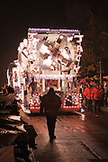 Portait format of Crusaders CC's Frosty Jack entry in the 2010 Bridgwater Guy Fawkes Carnival.