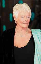 Judi Dench as she arrives at the BAFTA Film Awards. London, United Kingdom. Sunday, 16th February 2014. Picture by Max Nash / i-Images