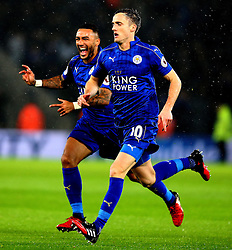 Andy King of Leicester City celebrates scoring a goal to make it 2-0 - Mandatory by-line: Robbie Stephenson/JMP - 10/12/2016 - FOOTBALL - King Power Stadium - Leicester, England - Leicester City v Manchester City - Premier League