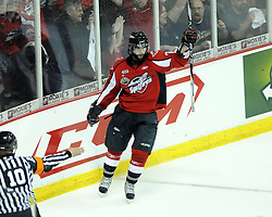 Scott Timmins of the Windsor Spitfires in Game 3 of the Rogers OHL Championship Series in Windsor on Sunday May 2. Photo by Aaron Bell/OHL Images