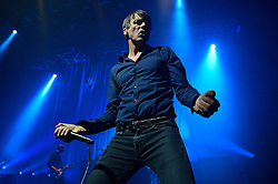 © Licensed to London News Pictures. 12/02/2016. BRETT ANDERSON of band SUEDE performs at the HMV Forum on a UK tour.  London, UK. Photo credit: Ray Tang/LNP