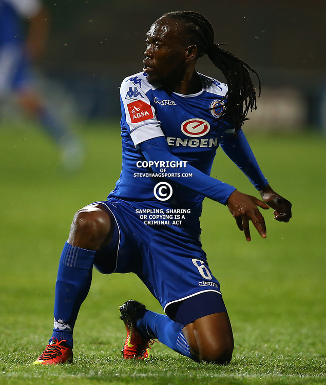 Reneilwe Letsholonyane of SuperSport United during the 2016 Premier Soccer League match between Supersport United and The Free Stat Stars held at the King Zwelithini Stadium in Durban, South Africa on the 24th September 2016<br /> <br /> Photo by:   Steve Haag / Real Time Images