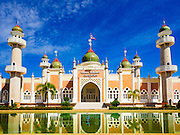 18 JUNE 2015 - PATTANI, PATTANI, THAILAND:  Pattani Central Mosque in Pattani, Thailand, is one of the most famous mosques in Thailand.   PHOTO BY JACK KURTZ