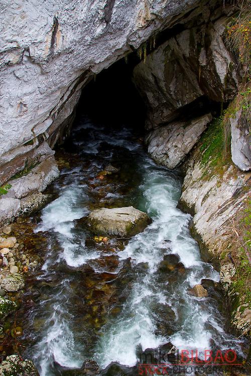Deboyu Cave.  Campo de Caso village. Redes Natural Park, Asturias, Spain.
