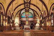 Church interior, National Shrine of Divine Mercy, Stockbridge, Massachusetts, USA.