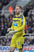 Newcastle United goalkeeper Robert Elliot   during the Barclays Premier League match between Newcastle United and Liverpool at St. James's Park, Newcastle, England on 6 December 2015. Photo by Simon Davies.