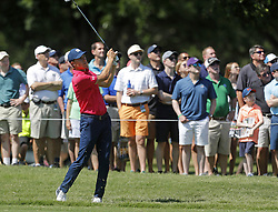 May 26, 2018 - Fort Worth, TX, USA - Jordan Spieth drives the ball in the middle of the second fairway during the Fort Worth Invitational Golf Tournament at Colonial Country Club Saturday May 26, 2018 in Fort Worth, Texas. (Credit Image: © Bob Booth/TNS via ZUMA Wire)