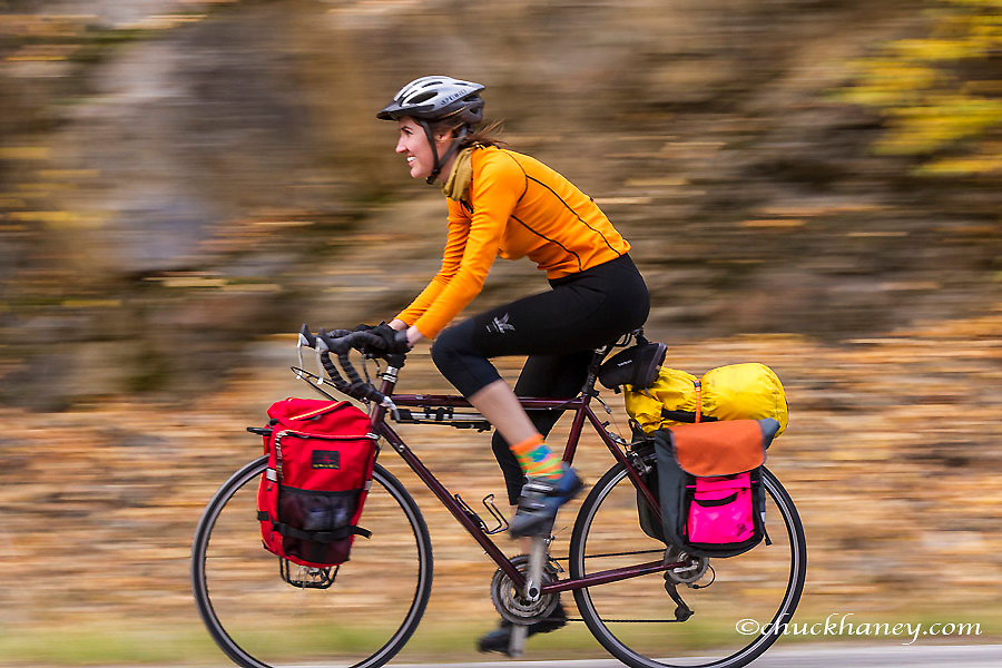 Bike touring in the Kootenai National Forest, Montana, USA model released