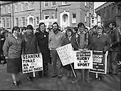1981 - Anti-apartheid Protest At Lansdowne Road. (N69).
