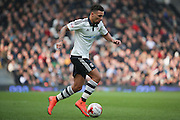 Fulham defender Ryan Fredericks (07) drbbling into box during the Sky Bet Championship match between Fulham and Bristol City at Craven Cottage, London, England on 12 March 2016. Photo by Matthew Redman.