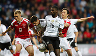 FOOTBALL: Nicolai Jørgensen (Denmark) and Antonio Rüdiger (Germany) battle for the ball during the Friendly match between Denmark and Germany at Brøndby Stadion on June 6, 2017 in Brøndby, Denmark. Photo by: Claus Birch / ClausBirch.dk.