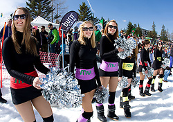 Dance group Ice Ladies during Luza Petrol 007 on ski resort RTC Krvavec, 31.3.2012, Cerklje na Gorenjskem, ski resort RTC Krvavec, Slovenia
