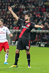 05.11.2011,  BayArena, Leverkusen, GER, 1.FBL, Bayer 04 Leverkusen vs Hamburger SV, im Bild.Eren Derdiyok (Leverkusen #19) entaeuscht / entäuscht / traurig..// during the 1.FBL, Bayer Leverkusen vs Hamburger SV on 2011/11/05, BayArena, Leverkusen, Germany. EXPA Pictures © 2011, PhotoCredit: EXPA/ nph/  Mueller       ****** out of GER / CRO  / BEL ******