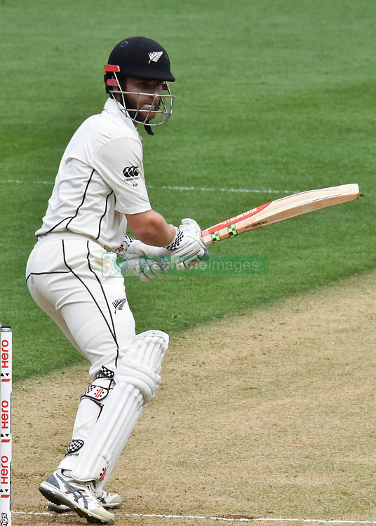March 23, 2018 - Auckland, Auckland, New Zealand - Kane Williamson of Blackcaps is in action during Day Two of the First Test match between New Zealand and England at Eden Park in Auckland on Mar 23, 2018. (Credit Image: © Shirley/Pacific Press via ZUMA Wire)