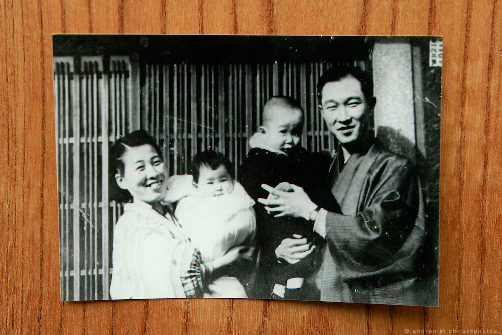 JUNKO KAYASHIGE.  Hiroshima A-Bomb survivor.  Painter. Her uncle with his family.