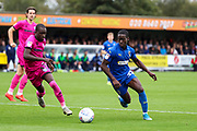 AFC Wimbledon defender Paul Osew (37) dribbling into box during the EFL Sky Bet League 1 match between AFC Wimbledon and Rochdale at the Cherry Red Records Stadium, Kingston, England on 5 October 2019.