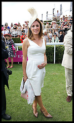 Image licensed to i-Images Picture Agency. 31/07/2014. Goodwood. United Kingdom. Presenter Natalie Pinkham  at Ladies Day at Glorious Goodwood.  Picture by Stephen Lock / i-Images