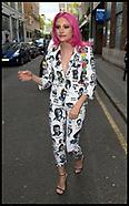 London: Pixie Lott arrives for an Interview - 13 April 2017