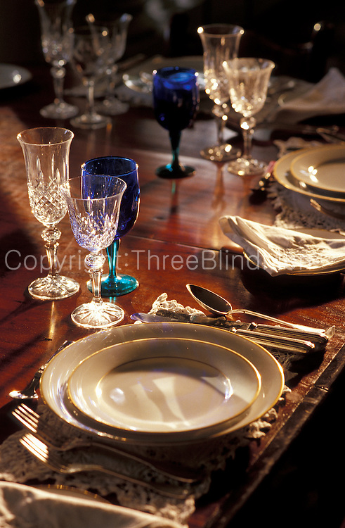 Dining table of home in Colombo.