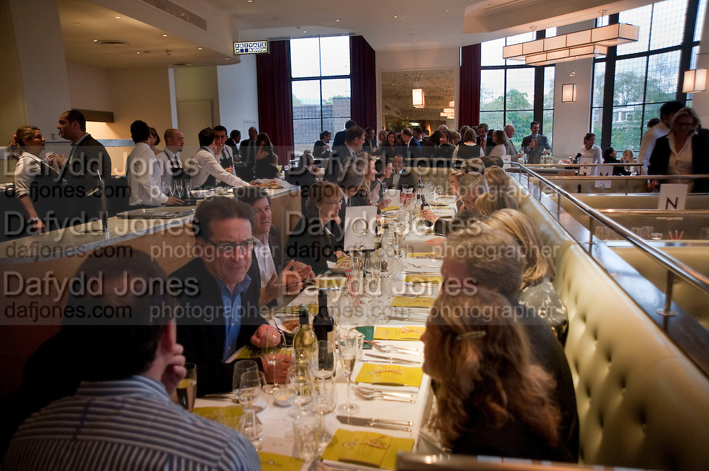 Literary charity First Story fundraising dinner. Cafe Anglais. London. 10 May 2010. *** Local Caption *** -DO NOT ARCHIVE-© Copyright Photograph by Dafydd Jones. 248 Clapham Rd. London SW9 0PZ. Tel 0207 820 0771. www.dafjones.com.<br /> Literary charity First Story fundraising dinner. Cafe Anglais. London. 10 May 2010.