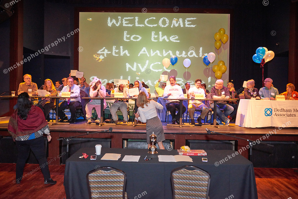 Neponset Valley  Chamber of Commerce 4th Annual Spelling Bee at Showcase Live, sponsored by Dedham Savings, MC'ed by