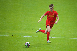 BIRKENHEAD, ENGLAND - Sunday, September 25, 2016: Liverpool's Ben Woodburn in action against Sunderland during the FA Premier League 2 Under-23 match at Prenton Park. (Pic by David Rawcliffe/Propaganda)