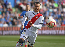 February 23, 2019 - Getafe, Madrid, Spain - Raul de Tomas of Rayo Vallecano in action during La Liga Spanish championship, football match between Getafe and Rayo Vallecano, February 23th, in Coliseum Alfonso Perez in Getafe, Madrid, Spain. (Credit Image: © AFP7 via ZUMA Wire)