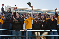 November 20, 2010; Chestnut Hill, MA, USA;  Boston College Eagles fans celebrate after the game against the Virginia Cavaliers at Alumni Stadium.  Boston College defeated Virginia 17-13.