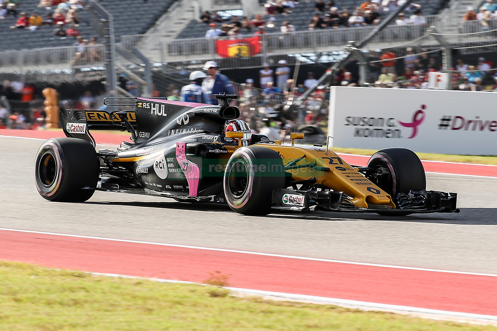 October 21, 2017 - Austin, Texas, U.S - Nico Hulkenberg (27) of Germany in action during the final practice before the Formula 1 United States Grand Prix race at the Circuit of the Americas race track in Austin,Texas. (Credit Image: © Dan Wozniak via ZUMA Wire)