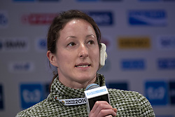 March 1, 2019 - Tokyo, Tokyo, Japan - Mcfadden Tatyana (USA) Wheelchair Athletes speaks during a press conference ahead of the Tokyo Marathon in Tokyo on March 1, 2019. The annual Tokyo Marathon will be held on March 3. (Credit Image: © Alessandro Di Ciommo/NurPhoto via ZUMA Press)