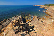 Shoreline along the Gulf of St. Lawrence in Cape Breton<br /> Marjorie Harbour<br /> Nova Scotia<br /> Canada