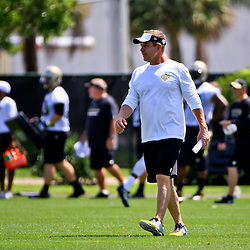 May 28, 2015; New Orleans, LA, USA; New Orleans Saints head coach Sean Payton during organized team activities at the New Orleans Saints Training Facility. Mandatory Credit: Derick E. Hingle-USA TODAY Sports