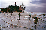 Ship-breaking by hand