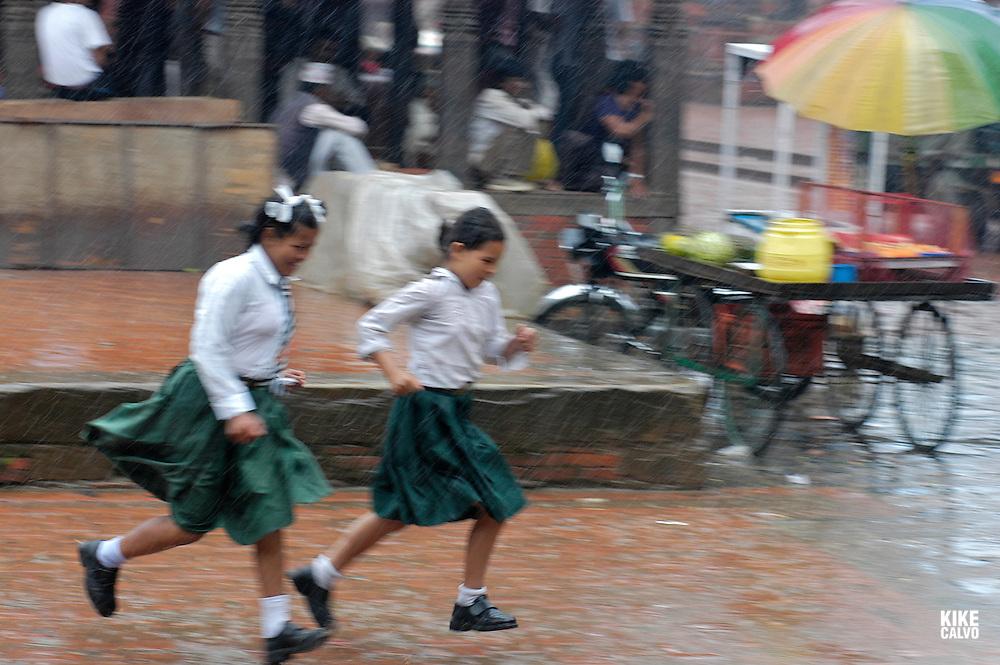 Heavy rain in Kathmandu B1276
