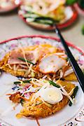Banh Khoai, Hue style rice pancakes. Hue, Vietnam