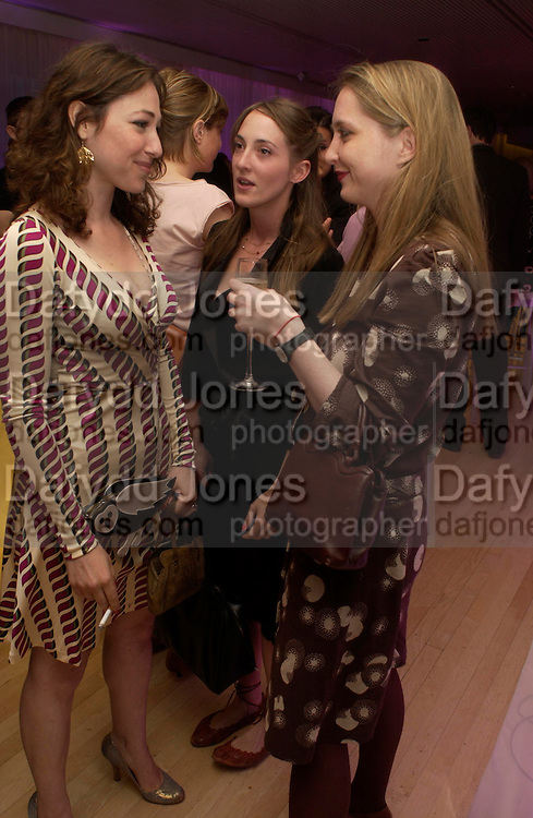Annie Morris, Poppy and Daisy de Villeneuve. An evening in aid of cancer charity Clic Sargent held at the Sanderson Hotel, Berners Street, London on 4th July 2005ONE TIME USE ONLY - DO NOT ARCHIVE  © Copyright Photograph by Dafydd Jones 66 Stockwell Park Rd. London SW9 0DA Tel 020 7733 0108 www.dafjones.com