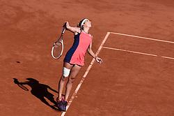 08.06.2017, Roland Garros, Paris, FRA, WTA Tour, French Open, Halbfinale, im Bild Timea Bacsinszky (SUI) // Timea Bacsinszky (SUI) during the semifinal of French Open Tournament of the WTA Tour at the Roland Garros in Paris, France on 2017/06/08. EXPA Pictures © 2017, PhotoCredit: EXPA/ Vianney Thibaut