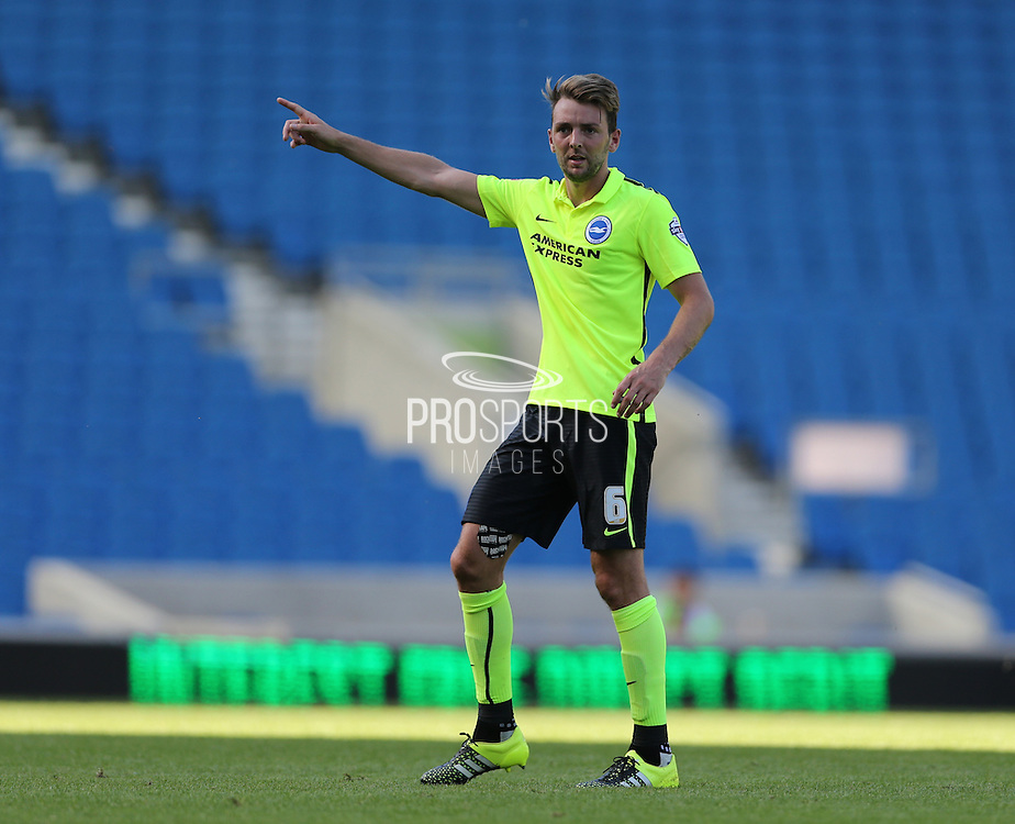 Dale Stephens during the Pre-Season Friendly match between Brighton and Hove Albion and Sevilla at the American Express Community Stadium, Brighton and Hove, England on 2 August 2015.