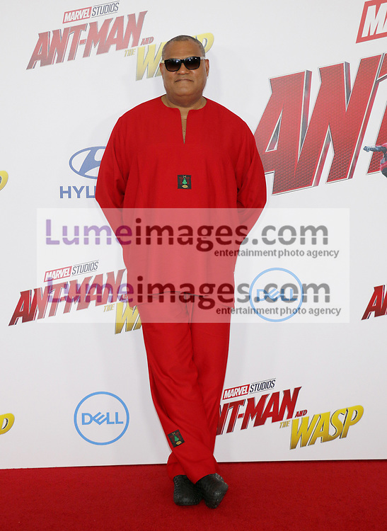 Laurence Fishburne at the Los Angeles premiere of 'Ant-Man And The Wasp' held at the El Capitan Theatre in Hollywood, USA on June 25, 2018.
