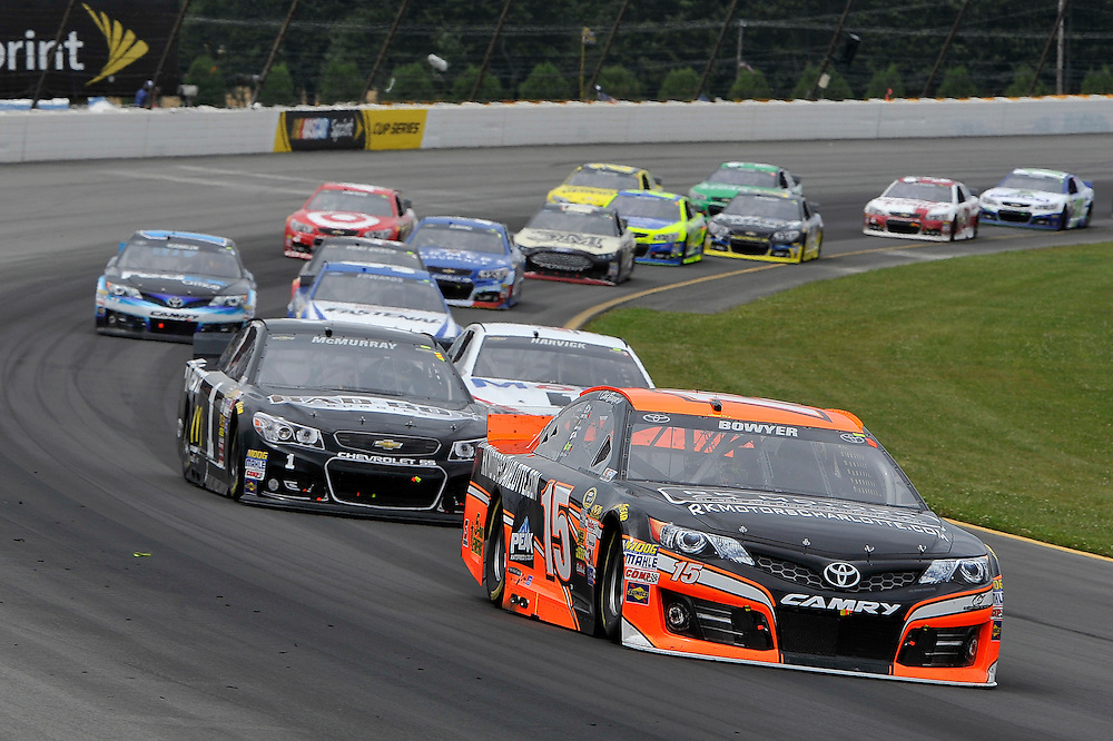 1-3 August, 2014, Long Pond, Pennsylvania USA<br /> Clint Bowyer, Jamie McMurray, Denny Hamlin, FedEx Office Toyota Camry<br /> &copy;2014, Scott R LePage <br /> LAT Photo USA