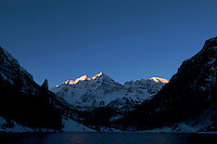First Light on Maroon Bells, Maroon - Snowmass Wilderness, Colorado