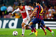 Onderwerp/Subject: FC Barcelona - Ajax - Champions League<br /> Reklame:  <br /> Club/Team/Country: <br /> Seizoen/Season: 2013/2014<br /> FOTO/PHOTO: PEDRO ( Pedro Eliezer Rodriguez LEDESMA ) (R) of FC Barcelona in duel with Bojan KRKIC ( Bojan Krkic PEREZ ) (L) of Ajax. (Photo by PICS UNITED)<br /> <br /> Trefwoorden/Keywords: <br /> #04 $94 &plusmn;1377835766895<br /> Photo- &amp; Copyrights &copy; PICS UNITED <br /> P.O. Box 7164 - 5605 BE  EINDHOVEN (THE NETHERLANDS) <br /> Phone +31 (0)40 296 28 00 <br /> Fax +31 (0) 40 248 47 43 <br /> http://www.pics-united.com <br /> e-mail : sales@pics-united.com (If you would like to raise any issues regarding any aspects of products / service of PICS UNITED) or <br /> e-mail : sales@pics-united.com   <br /> <br /> ATTENTIE: <br /> Publicatie ook bij aanbieding door derden is slechts toegestaan na verkregen toestemming van Pics United. <br /> VOLLEDIGE NAAMSVERMELDING IS VERPLICHT! (&copy; PICS UNITED/Naam Fotograaf, zie veld 4 van de bestandsinfo 'credits') <br /> ATTENTION:  <br /> &copy; Pics United. Reproduction/publication of this photo by any parties is only permitted after authorisation is sought and obtained from  PICS UNITED- THE NETHERLANDS