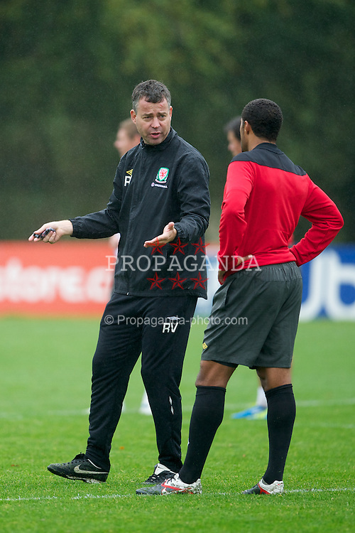 CARDIFF, WALES - Wednesday, October 5, 2011: Wales' assistant manager Raymond Verheijen during a training session at the Vale of Glamorgan Hotel ahead of the UEFA Euro 2012 Qualifying Group G match against Switzerland. (Pic by David Rawcliffe/Propaganda)