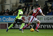 Brighton midfielder, winger, Kazenga LuaLua (30) breaks forward during the Sky Bet Championship match between Rotherham United and Brighton and Hove Albion at the New York Stadium, Rotherham, England on 12 January 2016.