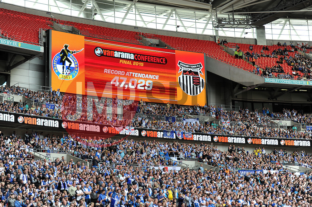 Bristol Rovers and Grimsby fans set a new record for the conference play-off final - Photo mandatory by-line: Dougie Allward/JMP - Mobile: 07966 386802 - 17/05/2015 - SPORT - football - London - Wembley Stadium - Bristol Rovers v Grimsby Town - Vanarama Conference Football