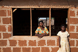 A woman and a child in the town of Bosomkyekye. CARE has several programs in this area, including the REGAL program for students and a training program for teachers. In addition, a school in Bosomkyekye was the site of the art project done in conjunction with the celebration for CARE's 20th anniversary in Atlanta. (NOTE: no photo release)