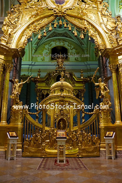 Interior of the Peter and Paul Fortress, St. Petersburg. Russia