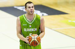 Uros Slokar of Slovenia during friendly basketball match between National teams of Slovenia and Georgia in day 2 of Adecco Cup 2014, on July 25, 2014 in Dvorana OS 1, Murska Sobota, Slovenia. Photo by Vid Ponikvar / Sportida.com
