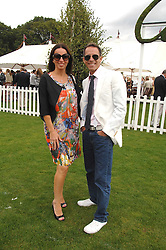 BEN DE LISI and DEBBIE LOVEJOY at the Cartier International polo at Guards Polo Club, Windsor Great Park on 29th July 2007.<br />