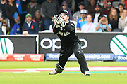 Wicket - Tom Latham of New Zealand catches Chris Woakes of England during the ICC Cricket World Cup 2019 Final match between New Zealand and England at Lord's Cricket Ground, St John's Wood, United Kingdom on 14 July 2019.